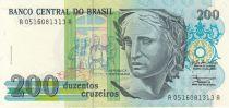 Brésil 200 Cruzeiros Liberté - Peinture Patria - 1990 Série A.0516