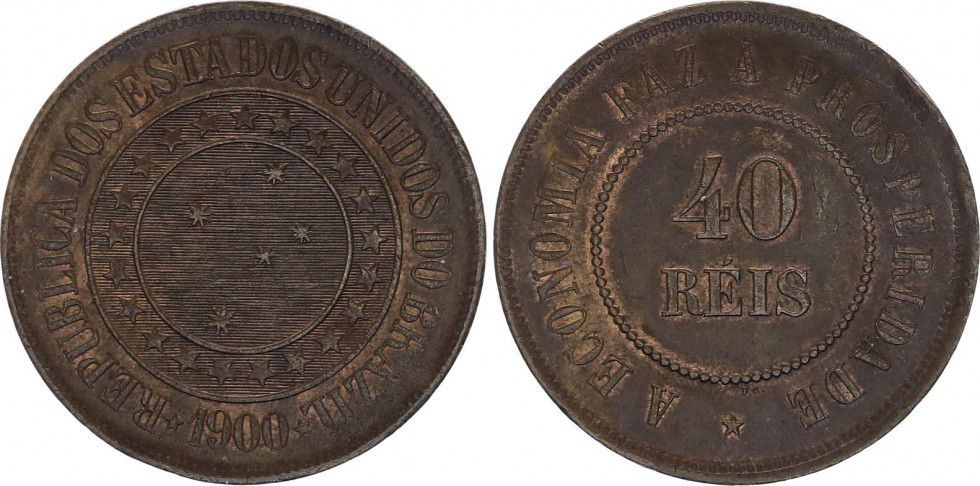 Brésil 40 Reis République - 1900