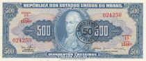 Brésil 50 Centavos sur 500 Cruzeiros, Joao VI - 1967