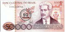 Brésil 50 Cruzados sur 50000 Cruzeiros, Oswaldo Cruz -1986