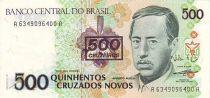 Brésil 500 Cruzados Novos Novos, Augusto Ruschi - Orchidées
