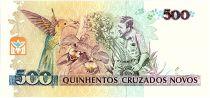 Brésil 500 Cruzeiros sur 500 Cruzados Novos, Augusto Ruschi - Orchidées - 1990