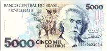 Brésil 5000 Cruzeiros, Carlos Gomes - Piano - 1993