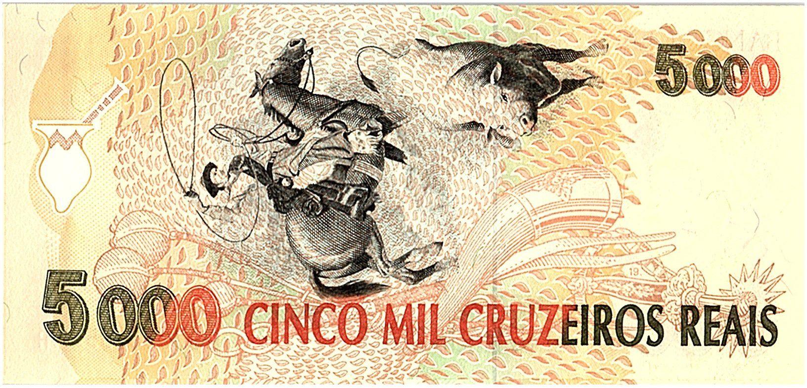 Brésil 5000 Cruzeiros Reais, Gaucho - 1993