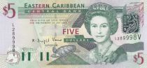 British Caribbean Territories 5 Dollars Elizabeth II - Amiral\'s house - Saint Vincent - 2003
