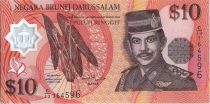 Brunéi Darussalam 10 Ringgit Sultan J.A.H. Bolkiah - Polymer - 1998