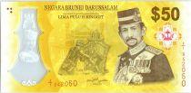 Brunéi Darussalam 50 Ringgit 2017 - J.A.H. Bolkiah - 50 ans Accesion au Trône - Polymer