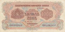 Bulgarie 1000 Leva - 1945 - P.72a - TTB