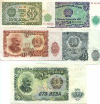 Bulgarie LOT.1 5 Billets, Série 3 à 100 Leva 1951 (5 billets)
