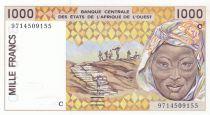 Burkina Faso 1000 Francs femme 1997 - Burkina Faso