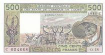 Burkina Faso 500 Francs Burkina Faso - Vieil homme et zébus - 1988 - Série O.18