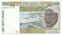 Burkina Faso 500 Francs homme 1991 - Burkina Faso