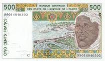 Burkina Faso 500 Francs homme 1999 - Burkina Faso