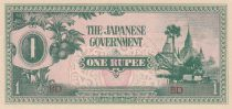 Burma 1 Rupee Ananda Temple - 1942 - P.14b - UNC