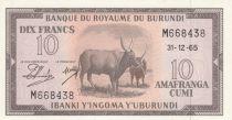 Burundi 10 Francs Cows  - 1965 - UNC - P. 9