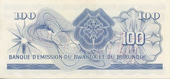 Burundi 100 Francs Cow - 1960