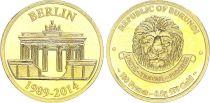 Burundi 100 Francs Gold - Chute du Mur de Berlin 1989-2014 - without certificate