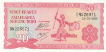 Burundi 20 Francs Guerrier Burundais - 2005