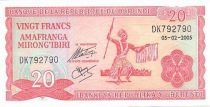 Burundi 20 Francs Guerrier Burundais