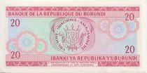 Burundi 20 Francs Warrior