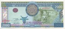 Burundi 2000 Francs Paysans - Lac, barrage