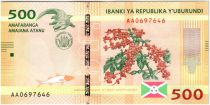 Burundi New1.2015 500 Francs, Café - Crocodile 2015