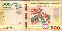 Burundi New1.2015 500 Francs, Café - Crocodile 2015
