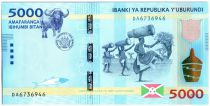 Burundi New3.2015 5000 Francs, Dancer - Buffalo 2015