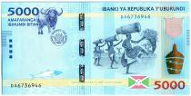 Burundi New3.2015 5000 Francs, Danseur - Buffle 2015