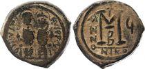 Byzance Follis, Justin II and Sophia (565-578) - Nicomedia Year G