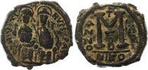 Byzance Follis, Justin II and Sophia (565-578) - Nicomedia Year GI