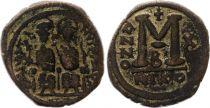 Byzance Follis, Justin II and Sophia (565-578) - Nicomedia Year X