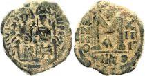 Byzance Follis, Justin II and Sophia (565-578) - Nicomedia Year XIII