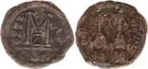 Byzance Follis, Justin II et Sophie (565-578) - Constantinople An G