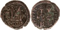 Byzance Follis, Justin II et Sophie (565-578) - Constantinople An X