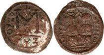 Byzance Follis, Justin II et Sophie (565-578) - Cysique An G