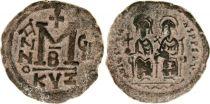 Byzance Follis, Justin II et Sophie (565-578) - Cysique An GI