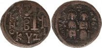 Byzance Follis, Justin II et Sophie (565-578) - Cysique An GIII