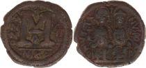Byzance Follis, Justin II et Sophie (565-578) - Nicomédie An 6