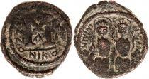 Byzance Follis, Justin II et Sophie (565-578) - Nicomédie An 7