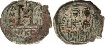 Byzance Follis, Justin II et Sophie (565-578) - Nicomédie An 8