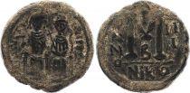 Byzance Follis, Justin II et Sophie (565-578) - Nicomédie An III