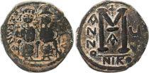 Byzance Follis, Justin II et Sophie (565-578) - Nicomédie An V