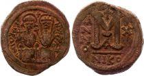 Byzance Follis, Justin II et Sophie (565-578) - Nicomédie An X