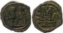 Byzance Follis, Justin II et Sophie (565-578) - Nicomédie An XI