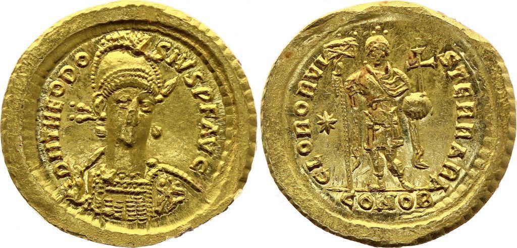 Byzance Solidus, Theodosius II (402-450) - Constantinople