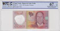 Cabo Verde 200 Escudos Henrique Teixera de Sousa - Polymer 2014 - PCGS 67 OPQ