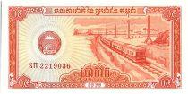 Cambodia 5 Kak , Train - Fishermen with boats - 1975 - P.27 a