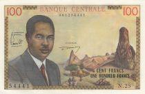 Cameroon 100 Francs Pdt Ahidjo - 1962 - Serial N.25