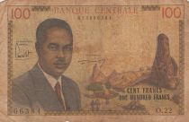 Cameroon 100 Francs Pdt Ahidjo - 1962 - Serial O.22